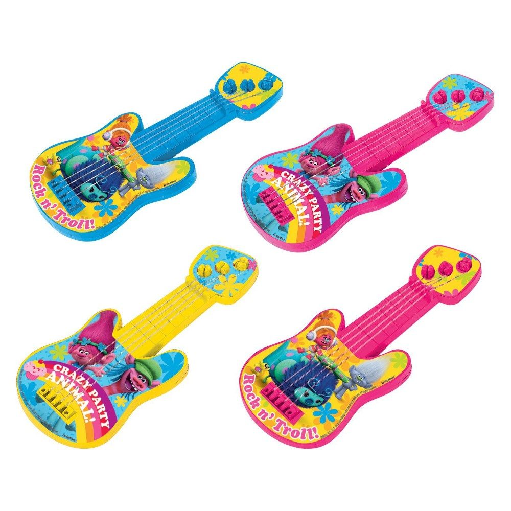 8ct Trolls Mini Guitars Party Favor Kit