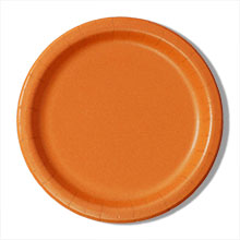 "9"" Orange Paper Dinner Plates - Quantity: 8 - Household Supplies by Paper Mart"