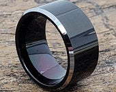 Black Ring, Black Tungsten Wedding Band, Black Tungsten Ring, Tungsten Engagement Ring, Black Wedding Band, Tungsten Ring, Unique Black Ring