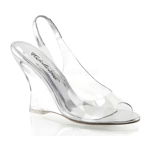 Women's Fabulicious Lovely 450, Size: 11 M, Clear/Silver/Clear
