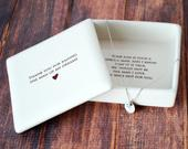 Mother of the Groom Gift Square Keepsake Box with Personalized Necklace Thank You For Raising the Man of My Dreams