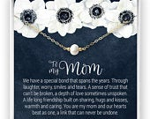 Gift for Mom, Pearl Necklace, Mom Necklace, Mother Necklace, Christmas, Mothers Day, Gift From Daughter, Gift for Mom, Pearl Jewelry Gift