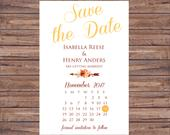 Save the Date, Custom Save the Date, Engagement, Calendar Save the Date, Save the Date Card, Woodland Wedding, Wedding Save the Date