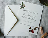 Apple Wedding Save the Date Cards Autumn Save the Date Printed Orchard Wedding Save the Date Download Rustic Save the Date Postcard