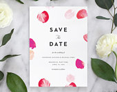 Modern Save the Date, Elegant Save the Date, Printed Save the Date, Save the Date card, Simple Save the Date