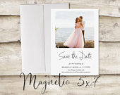 5x7 inch Photo Save The Date Magnet, Magnet Save the Date, Photograph Save the Date, Save the Date with Photograph, Modern, Classic, Elegant