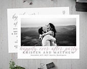 Happily Ever After Postcard Invitation, Post Wedding Photo Card, Printable Reception Invite, After Wedding, Reception Invitation, Elopement