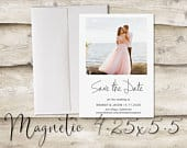 4.25x5.5 inch Photo Save The Date Magnet, Magnet Save the Date with Photo, Photograph Save the Date, Modern, Clean, Crisp, Classic, Unique