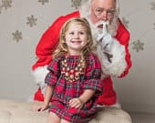 Red Plaid Flannel, Girls Christmas dress, Christmas Pajamas, dress, Red tartan plaid, holiday dress, baby, toddlers, coming home outfit