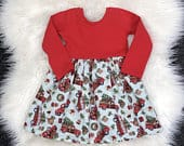 Christmas red truck dresses / Christmas dress / red truck Christmas dresses / newborn Christmas dresses / girls Christmas dresses /