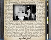 Any Wording, Song Lyrics, Quote, or Poem you choose, Picture Frame, Personalized Gift, Wedding gift, table top frame, Wedding Vows, custom