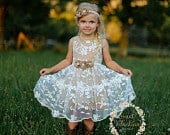 Flower girl dress, lace flower girl dress, girls dress, girls lace dress,country flower girl dress, rustic flower girl dress, tulle dress