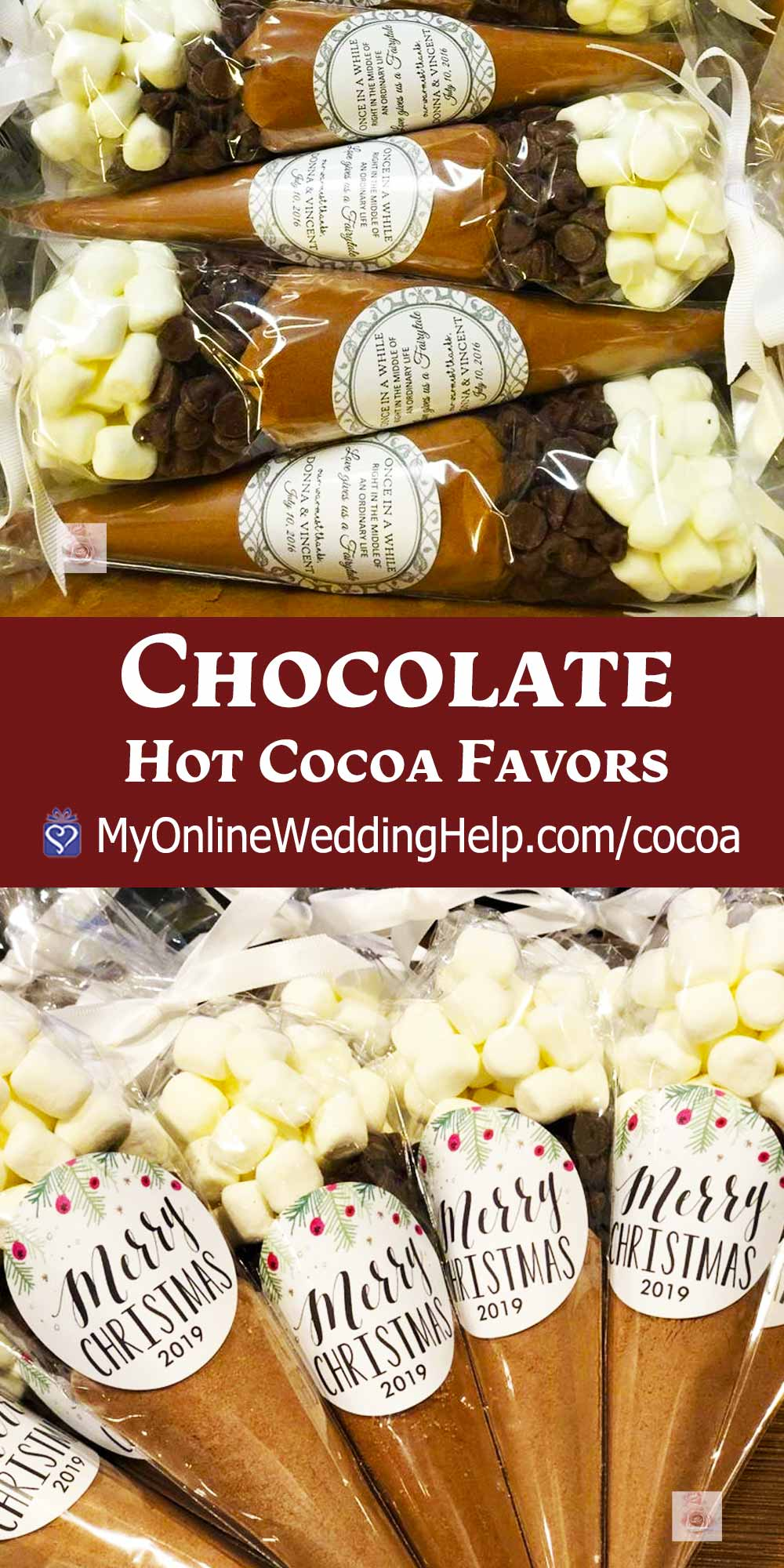 Unique Hot Chocolate Favors - Cocoa Mix in Cones