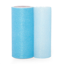 """Sparkle Light Blue Sparkling Tulle Roll - 6"""" X 25yd - Fabric - Width: 6"""" by Paper Mart"""