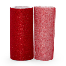 """Sparkle Red Sparkling Tulle Roll - 6"""" X 25yd - Fabric - Width: 6"""" by Paper Mart"""