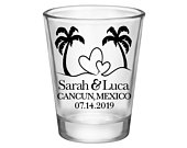 100 Wedding Shot Glasses Gift for Guests Personalized Beach Wedding Idea Beach Wedding Favors Shot Glasses Beach Love 1A Beach Wedding Decor