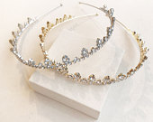 Crown Headband, Crystal Headband, Tiara, Bridal Headpiece, Wedding Hair Jewelry, Bridemaids headbands, Gold headband, Silver headband