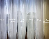 Wedding veil TULLE SAMPLE, white, diamond white, light ivory, and ivory, blush, champagne