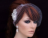 Comb Birdcage Veil Bridal Headpiece Bird Cage Hairpiece Blusher Wedding Hair Accessory Piece Bride Short Accessories Brides Jewelry Gift