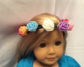 Flower Crown Tiara for 18 inch American Princess Fairy Girl Doll for Wedding Party Holiday Costume Outfit Headband Hair Accessory