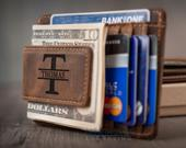Personalized Money Clip, Leather Money Clip, Wallets for men, Engraved Wallet, Leather wallet mens, Christmas gifts for him