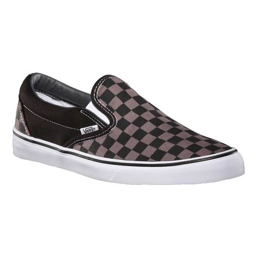 Vans Classic Slip-On, Size: 7 M, Black/Pewter Checkerboard