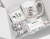 Does this ring make me look engaged mug future mrs wine glass bride gift box set for bride to be engagement gift box congrats bride