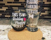 This Is My Wedding Planning Glass Set Wedding Planning Observer Beer Glass Engagement Gift Mr Mrs Gift Bride and Groom To Be