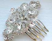 Wedding Hair Comb, Crystal Rhinestone Bridal Hair Comb, Silver Hair Comb, Crystal Hair Comb, Rhinestone Hair Comb, Bridal Hair Accesory
