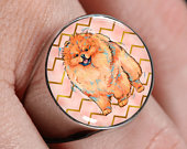 Pomeranian Design Signet Ring in Stainless Steel or 18K Gold Finish for Pomeranian Dad Pomeranian Mom, No Home is Complete Without a Pompom
