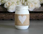 Rustic Table Centerpiece,Wedding Table Decor,Engagement Gift,Rustic Home Decor,Mothers Day Gift,Rustic Home Decor Vase,Decorative Mason Jar