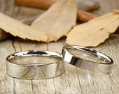 Christmas Gifts His and Her Promise Rings Sliver Wedding Titanium Rings Set