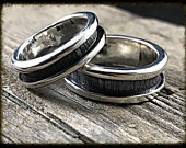 Alternative Wedding His/Hers Silver Engagement Set