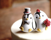 PENGUIN Wedding Cake Topper Warranty Protection Included