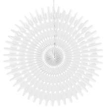 """16"""" White Tissue Honeycomb Fan - Quantity: 5 - Wedding Packaging by Paper Mart"""