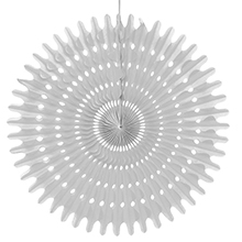 """12"""" Silver Tissue Honeycomb Fan - Quantity: 5 - Wedding Packaging by Paper Mart"""