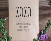 XOXO Rustic Wedding Treat Bags, Goodie Bags, Wedding Favor Bags, Country Wedding, Kraft Brown Bags, with love, Rustic, Burlap, Popcorn Candy