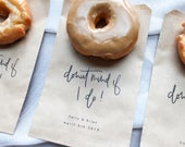 Donut favor bag Donut mind if I do wedding favor bag, Party favor bag, Cookie bag, Thank you bag, Thank you favor, Donut wall bag