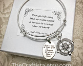 C12B, Cousin Bangle, Cousin Gift, Cousin Bracelet, Cousin Jewelry, Gifts for Cousins, Compass Charm, Cousin Pendants, Cousin Charms, Cousins