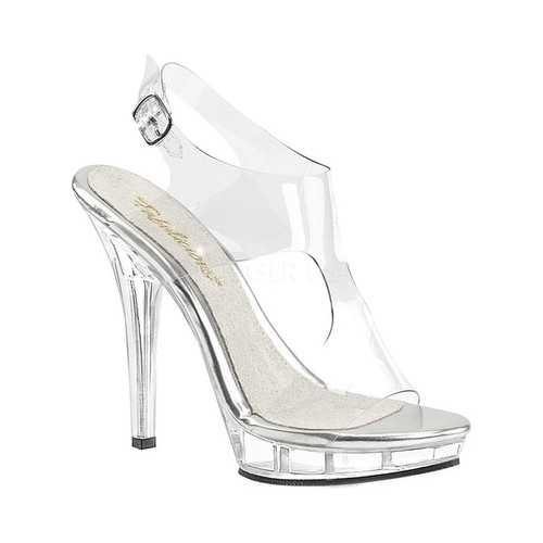 Women's Fabulicious Lip 107 Sandal, Size: 8 M, Clear PVC/Clear