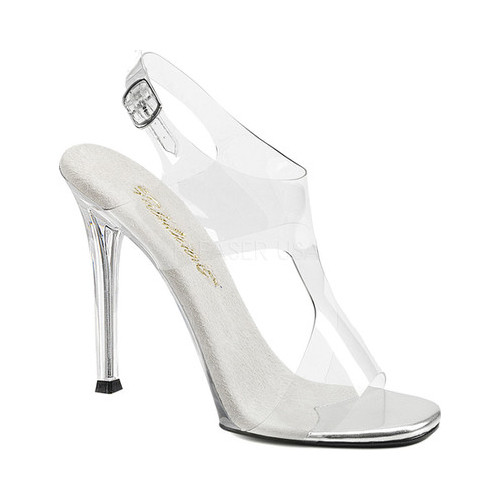Women's Fabulicious Gala 07 Sandal, Size: 7 M, Clear PVC/Clear