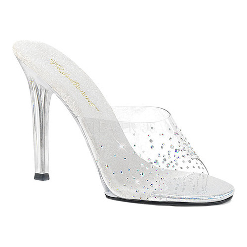 Women's Fabulicious Gala 01SD Slide, Size: 7 M, Clear PVC/Clear