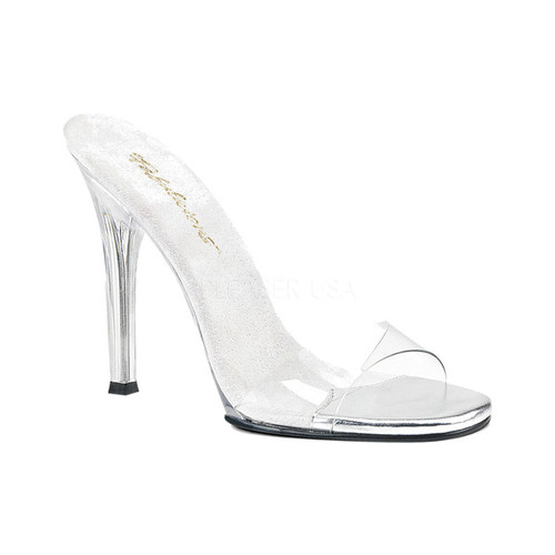 Women's Fabulicious Gala 01S Slide, Size: 7 M, Clear PVC/Clear