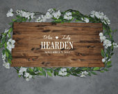 Alternative Wedding Guest Book Wedding Decor Last Name Sign Rustic Wood Sign Wood Sign Personalized Sign Guest Book For Wedding
