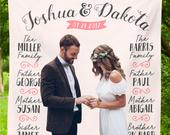 Rustic Wedding Backdrop, Custom Wedding Photo Booth Chalkboard, Wedding Photo Booth Backdrop,Wedding Reception Banner,Engagement Party Decor