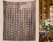 DIY Wedding Wall, Rustic Wedding Backdrop, Custom Tapestry, Dessert Table Banner, Engagement Tapestry, Wedding Backdrop // WG21TP MAR1 AA3