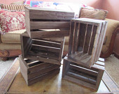 wooden crates 5 wood wedding reception centerpiece rustic planter box vases barn country wedding decorations
