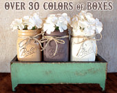 Set Of 6 Boxes Rustic Wood Planter Box Rustic Wedding Centerpiece Rustic Wedding Decor Wedding Decor Rustic Wedding Centerpiece