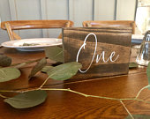 Rustic Table Numbers, Wedding Table Numbers, Custom Table Numbers, Wedding Numbers, Rustic Wedding Decor, Wooden Table Numbers