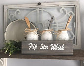Utensil Holder for Kitchen Storage with Mason Jars Gift For Her New Home for a Farmhouse Kitchen Decor